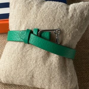 NIB Keep Collective Pebble Emerald/Navy Bracelet